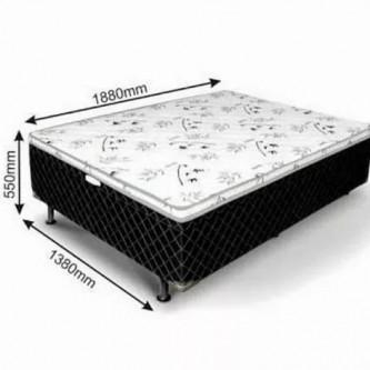 CAMA BOX CASAL CONJUGADO COM COLCHAO 138 X 188 X 55 - Foto 1